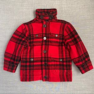 Polo by Ralph Lauren Kids Red Plaid Wool Coat
